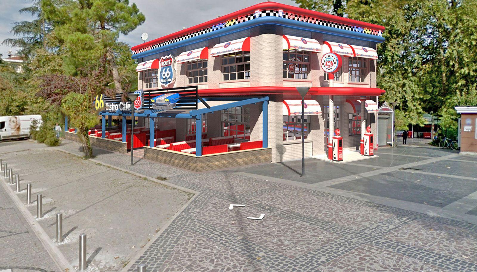 Route 66 Cafe Tasarımları